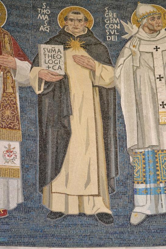 Santo Tomas de Aquino con la SUMA THEOLOGICA
